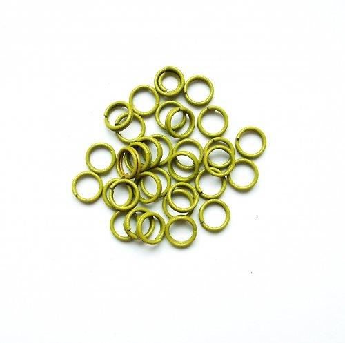 Spojovací kroužky dvojité žlutozelené