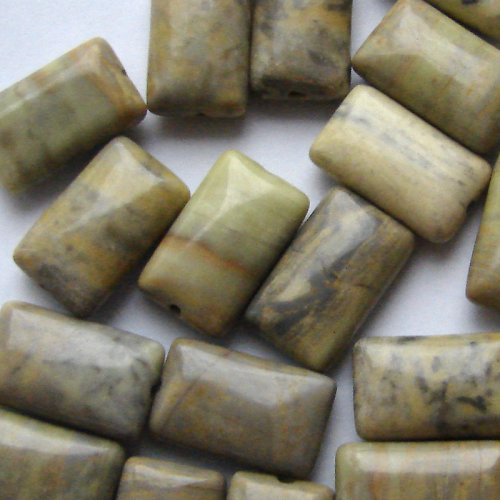 Jadeit - polštářky, 11x18 mm (2 ks)