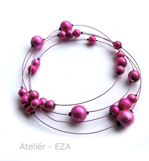 Univerzálních 90 cm růžových korálků SLEVA ze 139