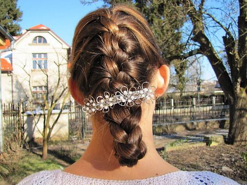 """spona do vlasů \""""Ledové květy\"""""""