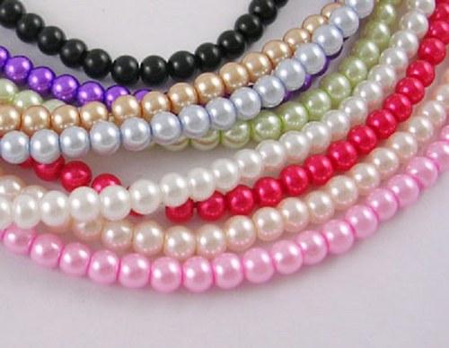 Korálky sklo perla 1700ks/10mm/890,-