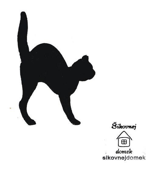 Razítko kočka 3 - v.11,5x8cm