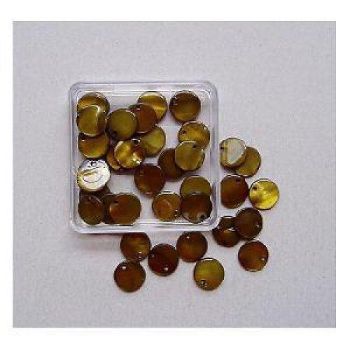 Perleť kolečka 10mm 40ks-oliv.zelené