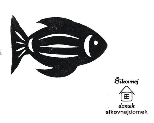 Razítko ryba č.3 - v.4x6,6cm
