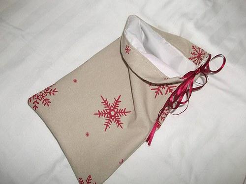 Vánoční pytlík - s bílou podšívkou