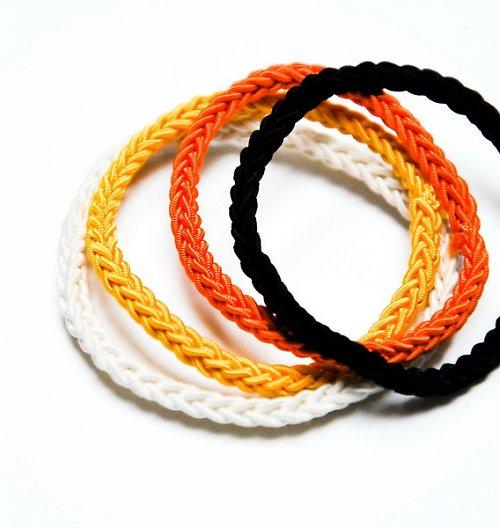 SET GUMIČIEK | Bielo- žlto-oranžovo-čierny