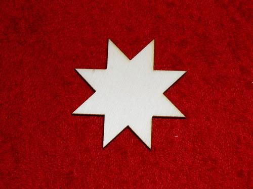 2D výřez hvězdička pr.5,4cm