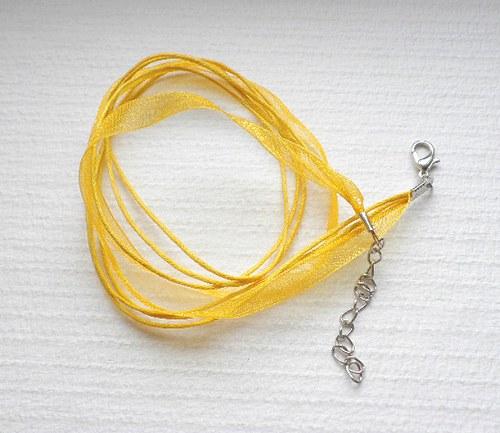 Šňůrka 1+3 - žlutá - 1ks