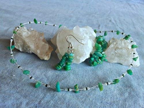 Sada šperků z amazonitu