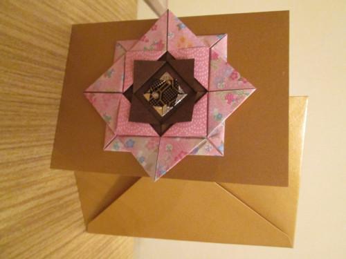 Origami přání – růžovo-hnědé