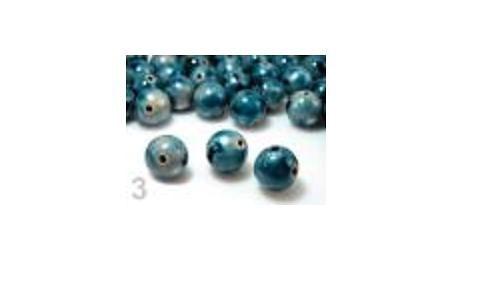 Korálky POTISK plast kulička Ø12mm - Imperial Blue