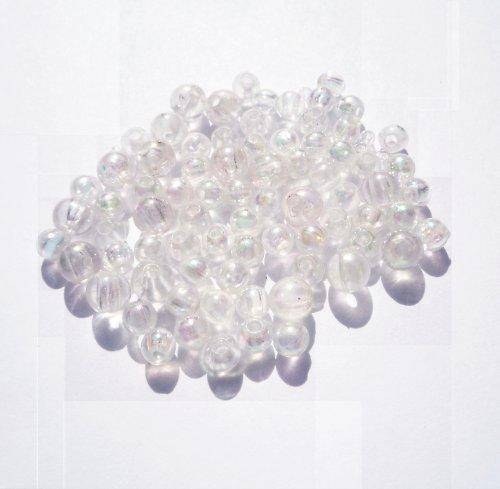 Plastové čiré měňavé kuličky (20 ks)