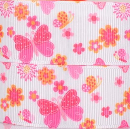 Rypsová stuha šíře 22 mm motýlci