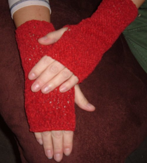 červené rukavice