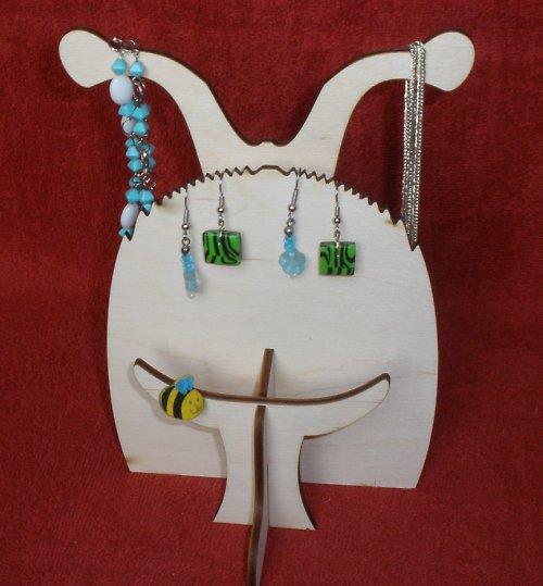 Stojan-věšák na šperky ŠNEK