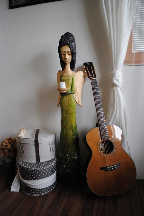 Anděl ochránce- velká socha na zakázku 120 cm