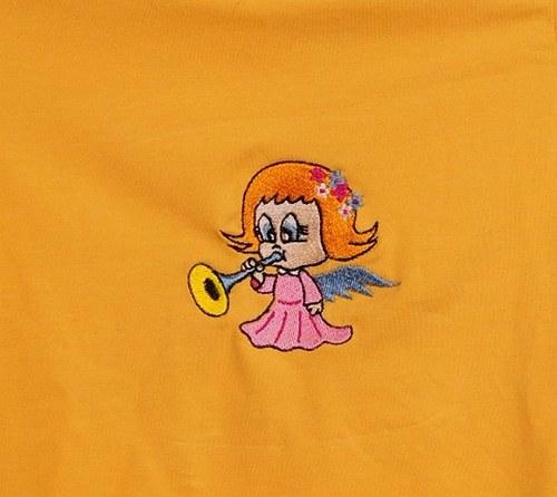 Dětské uni triko DR+andílek 12 (blond vlásky)