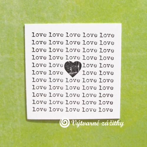 Otisk LOVE, LOVE...