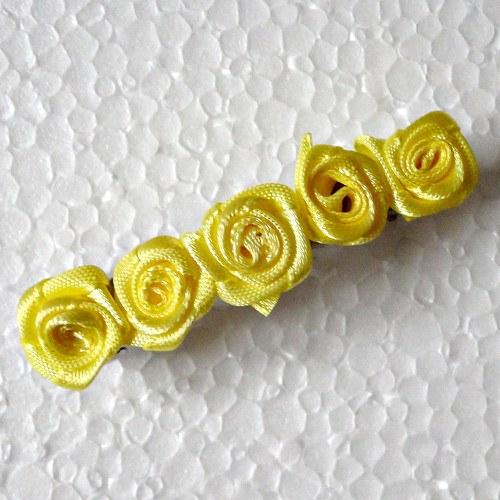 Spona -žluté růžičky