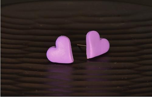 fialová srdíčka