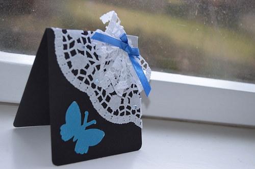 """Přání \""""Modrý motýl\"""""""
