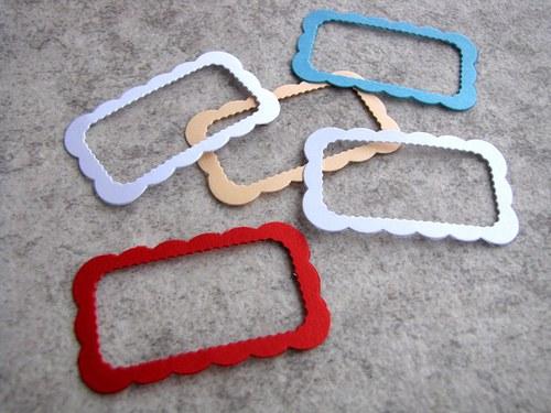 Rámečky - 5 ks - barva podle přání