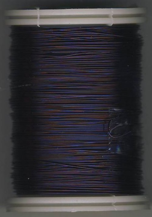 Měděný lakovaný drát 0,3 mm tmavě fialový