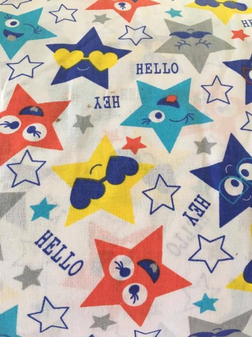 Metráž - látka hvězdy mnoho barev a velikostí