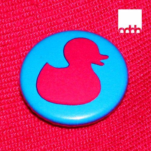 Placka s motivem kachničky  modro růžová