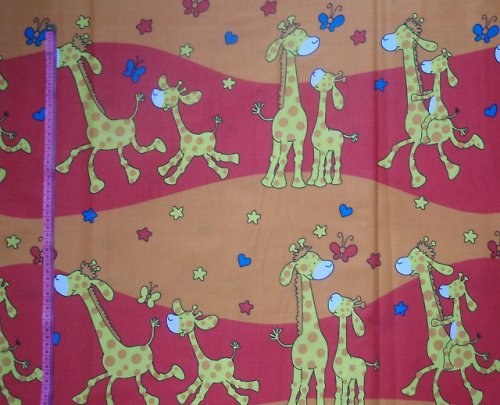 19101 Látka žirafy červené ATEST DĚTI á 0,5m