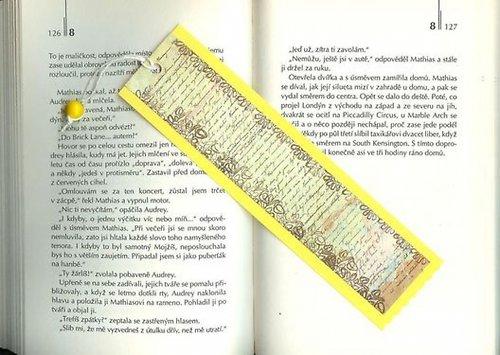 Záložka - žlutá- písmo