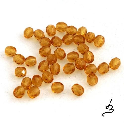 Broušené medové 4 mm, 50 ks