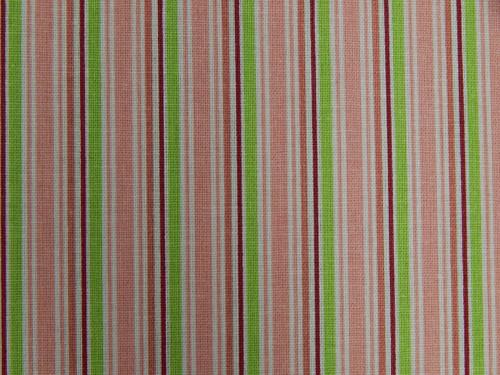 Látky - Proužky, šedá, hnědá, bílá, růžová, zelená