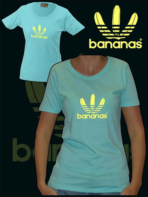 Dámské mentolové tričko Bananas