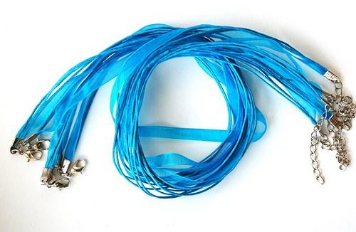 Náhrdelník - organza stuha sv. modrá