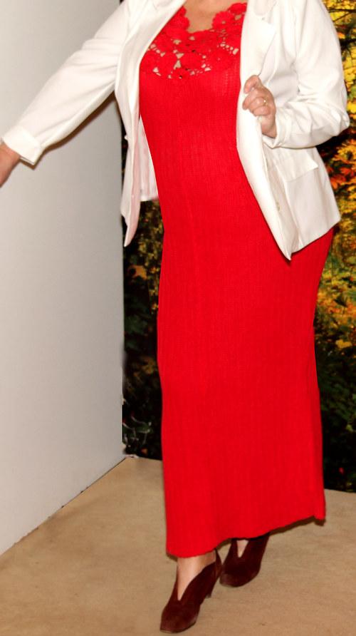 Pletené dlouhé šaty POZOR-SLEVA