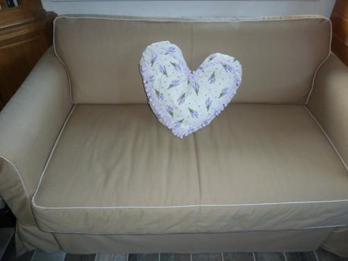 Srdce - polštář s levandulí