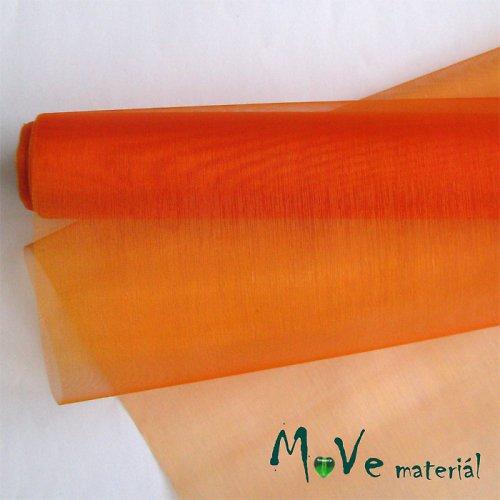 organza oranžová š. 37 cm/ 1m