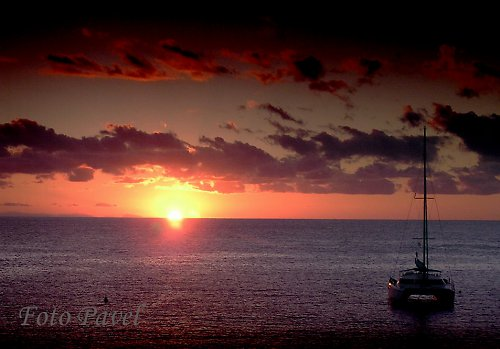Západ slunce na Ibize