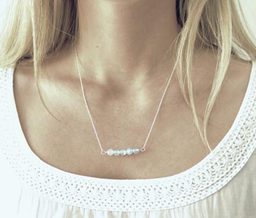Šeříkový Jadeit - Ag náhrdelník