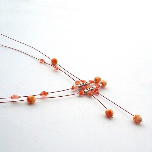Oranžový deštík  - náhrdelník