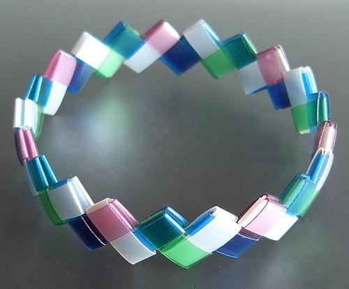 Náramek Perla-Mod-Zel-Růž