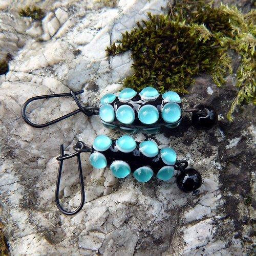 Náušnice okaté olivy - zelené ( emerald)