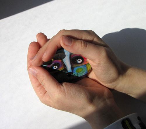 Na papíru od rozmar - Oči...zrcátko s futrálkem