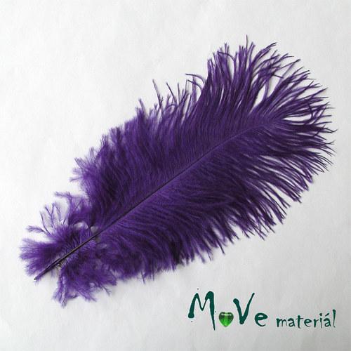 Pštrosí peří  fialové 1ks