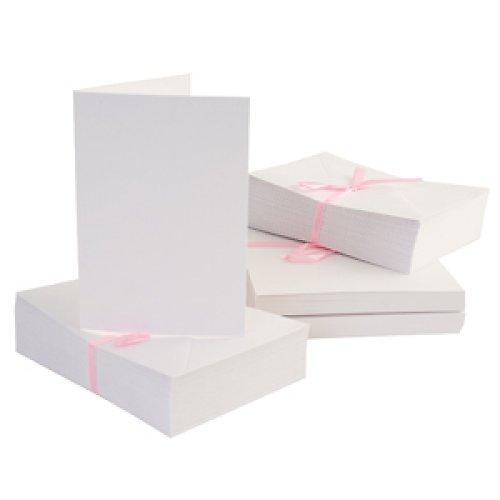 Obálky a karty 10 ks A6 Bílé