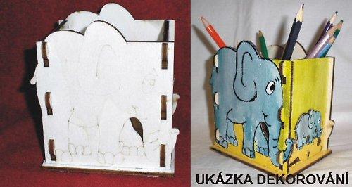 KRB040 Krabička-stojánek na tužky SLON - 11,5x12cm