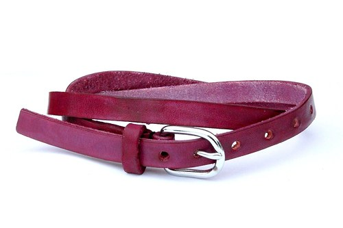 Kožený pásek úzký (fialová)