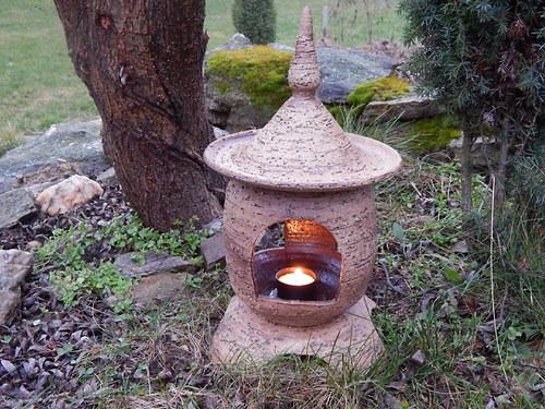 Zahradní šamotová lampa