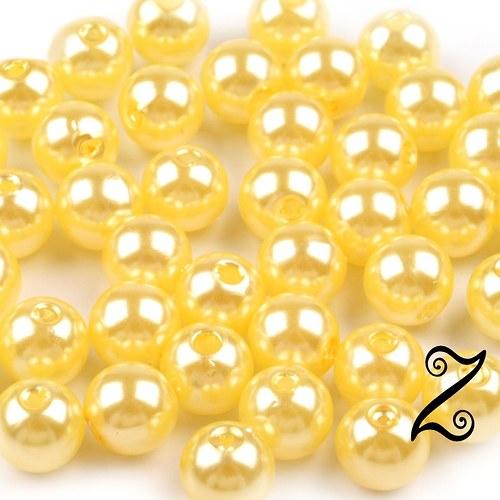 Voskovky, žlutá neapolská, 8 mm (20ks)